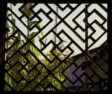 lattice window of suzhou quilt and patchwork symmetry periodic